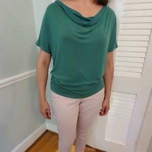 Anthropologie Green Blouse size Small